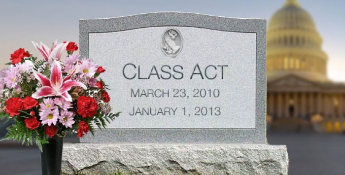 ACA's CLASS Act pushed over the fiscal cliff
