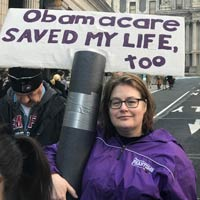 Not an alternative fact? Obamacare saved her life, too.