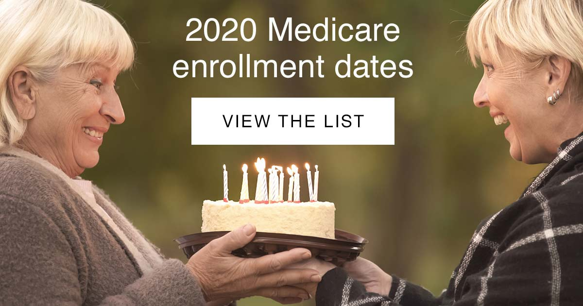 2020 Medicare enrollment dates