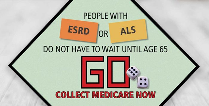 Medicare eligibility for ALS and ESRD patients